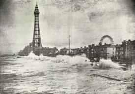 High tide at Blackpool, 8 October 1896.