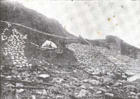 The Gynn Slade, at the northerly end was completely demolished and part of the road undermined.