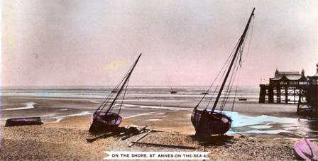 When this photo was taken in 1910 there was a considerable drop from the pebble ridge on the foreshore onto the beach.