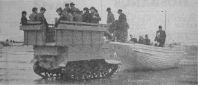 Blackpool, Easter 1947. The converted bren gun carrier taking people to and from the pleasure boats.