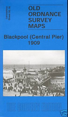 2006 Blackpool Central Pier area Old Ordnance Survey Map 1909