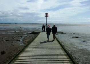 On the jetty, Lytham.