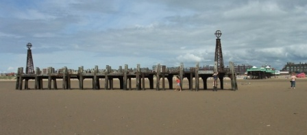 The old jetty, St.Annes Pier.