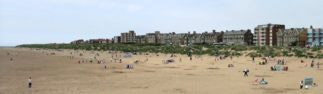The beach & sand dunes to the north of St.Annes Pier.