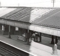 The bookstall, Ansdell & Fairhaven Station, in the 1950s