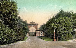 Ballam Road Entrance, Lytham Hall, c1900.