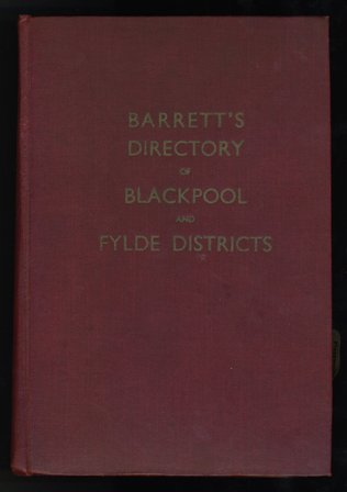 Barretts Directory of Blackpool and Fylde 1953