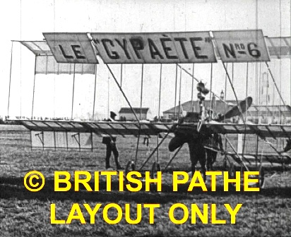 Blackpool Aviation Meeting 1910 Pathe - Flying display.