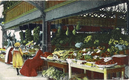 Blackpool Market in the early 1900s.