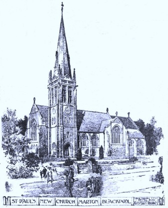 Architects impression of the new St.Pauls Church Marton, 1909.