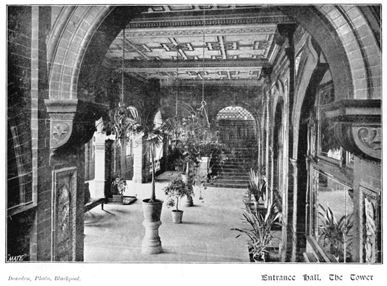 The Entrance Hall, Blackpool Tower c1899.