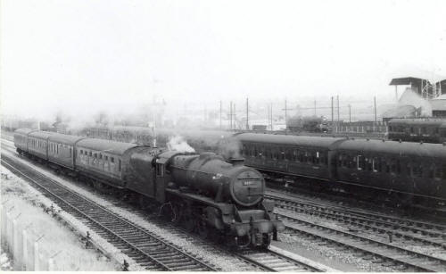 Trains near Bloomfield Road, Blackpool c1960.