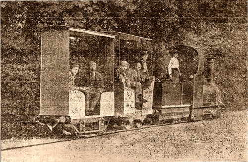 John Leyland Birley on his miniature railway, Kirkham.