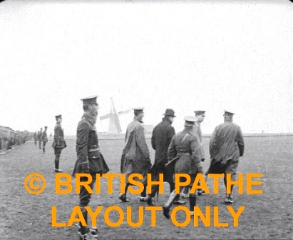 Lytham. Lord Derby, Mayor, General Sir T Perrot RFA Review Pathe 1915