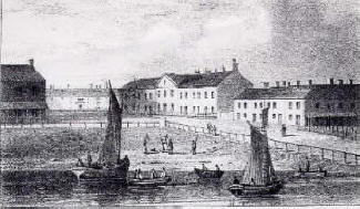 Lytham viewed from the beach in 1830