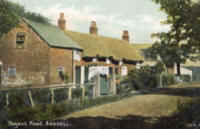 Old cottages,Regent Avenue, (near the present Crematorium) Heyhouses c1904