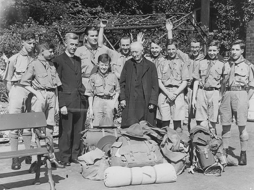 Photograph of Boy Scouts, Lytham 1950.