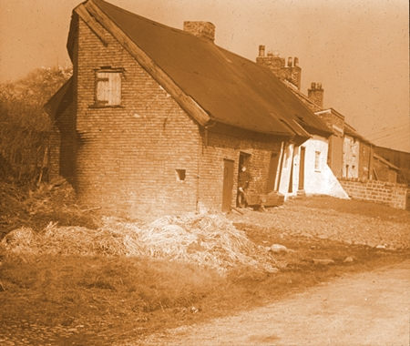 Old cottages at Newton with Scales, 1945.