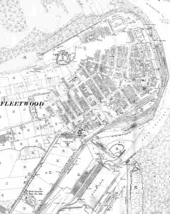 Ordnance Survey Map of Fleetwood, 1890