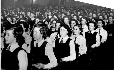 Queen Mary School Speech Day at Lytham Palace Cinema c1955.
