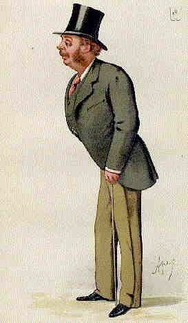 Charicature of Sir Matthew White Ridley 1842-1904.