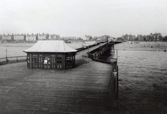 St.Annes Pier, looking inland from the pierhead c1890.