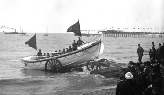 The launch of the lifeboat