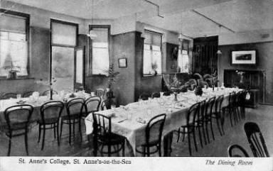 The dining room of the present building on Clifton Drive South.