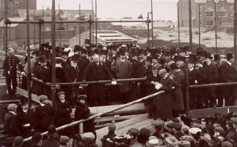 Laying the foundation stone of the Technical School, St.Annes-on -the-Sea, 1906.