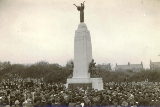 Unveiling the War Memorial, St.Annes, 1924.