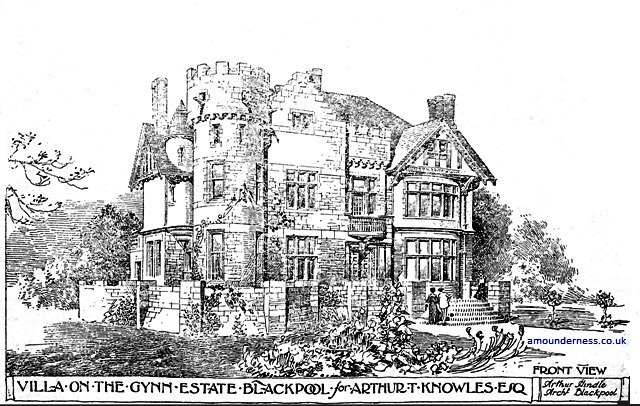 The Castle, built for Arthur T Knowles, Blackpool, 1906.