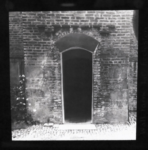 Photo of the doorway to Wall Farm, Little Eccleston, 1943.