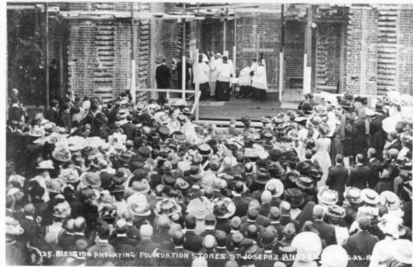 Blessing the Foundation Stones, St.Joseph's Church, Ansdell, 1909