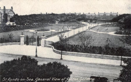 "The ""new park"" was formally opened as ""Ashton Gardens"" by Coun. Richard Leigh on 22 August 1916. It is seen here shortly after being laid out."