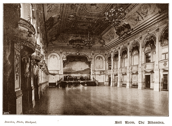 The Ballroom at The Alhambra, Blackpool 1899.