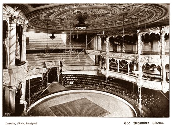 The Circus at The Alhambra, Blackpool 1899.