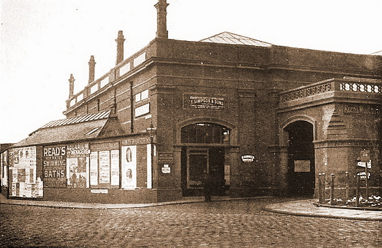 Blackpool Hounds Hill Station (1862-99), later known as Central Station.