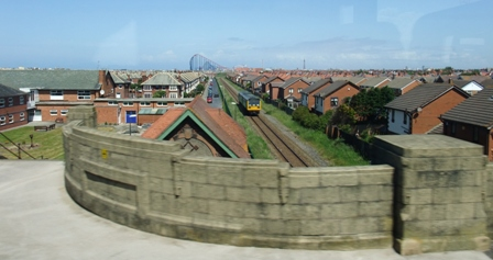Blackpool viewed from the railway bridge, Squires Gate.