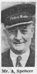 Alfred Spencer, Stationmaster at Layton, near Blackpool in the 1950s.