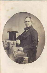 Portrait of a gentleman by George White, Photographer, Blackpool, in the early 1860s