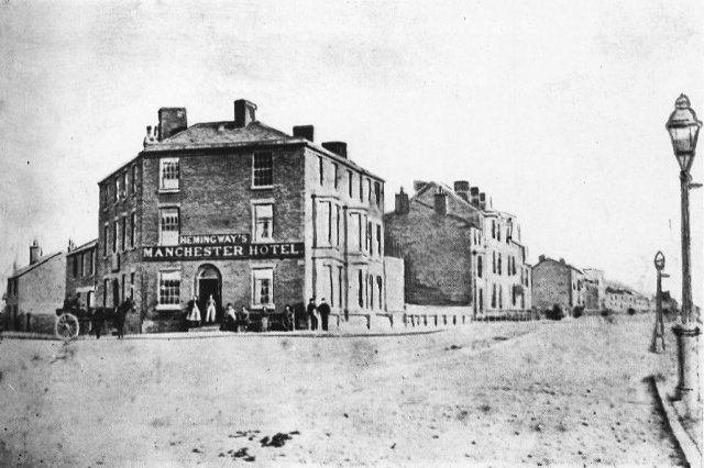 The Manchester Hotel, Blackpool, in the 1860s.