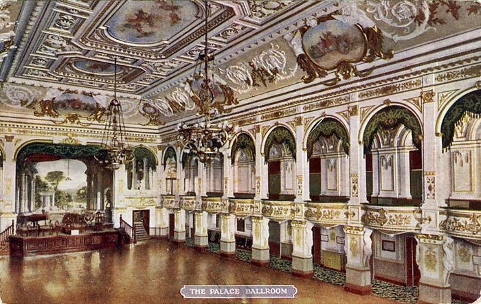 The Ballroom at The Palace Theatre, Blackpool c1910.