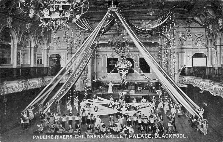 The Theatre at The Palace, Blackpool, c1910; Pauline Rivers Children's Balets started in 1902.