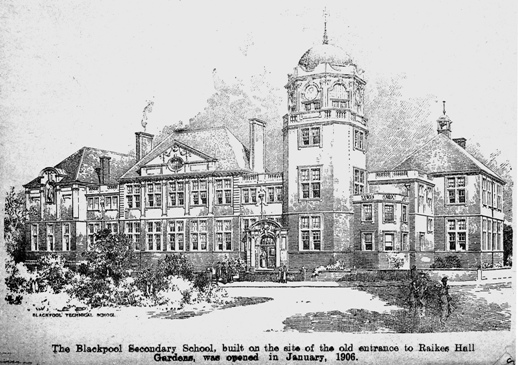 Blackpool Secondary School, opened in 1906.