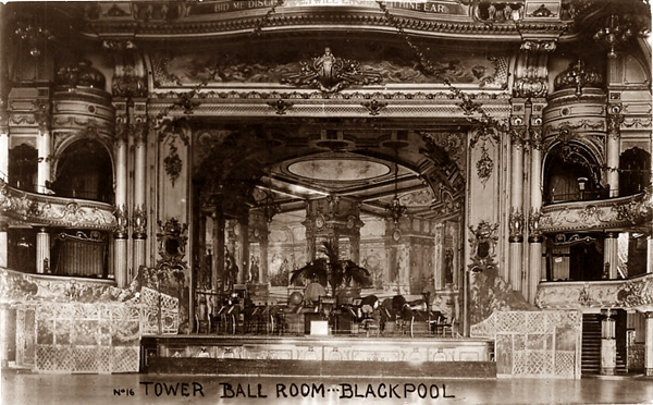 Blackpool Tower Ballroom c1918.