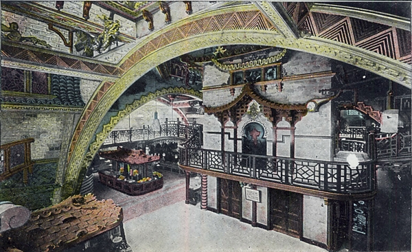 Chinatown, Blackpool Tower c1904.