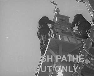 A 60 second Pathe news clip from 1939 showing men painting Blackpool Tower. Click on the image and the Pathe website page will open in a new window.
