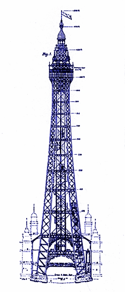 Plans for Blackpool Tower, 1891.