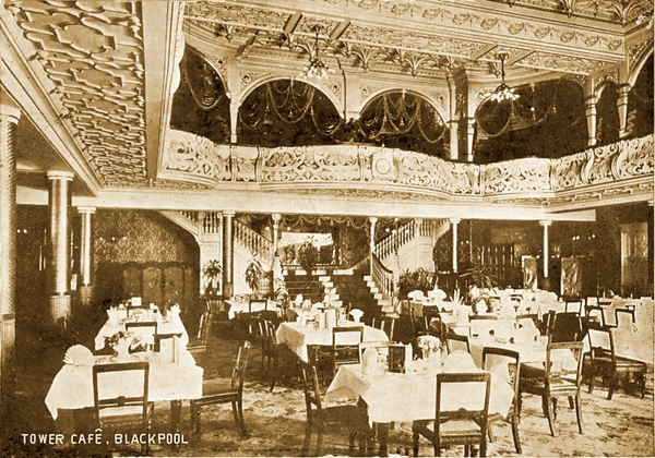 The Restaurant, Blackpool Tower c1904.