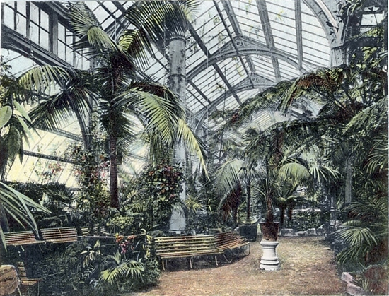 Blackpool Tower Roof Gardens c1900.